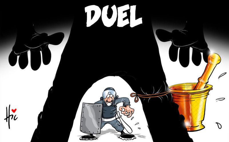 Hirak : Le duel - Dessins et Caricatures, Le Hic - El Watan - Gagdz.com