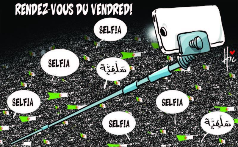 Hirak et selfies - Dessins et Caricatures, Le Hic - El Watan - Gagdz.com