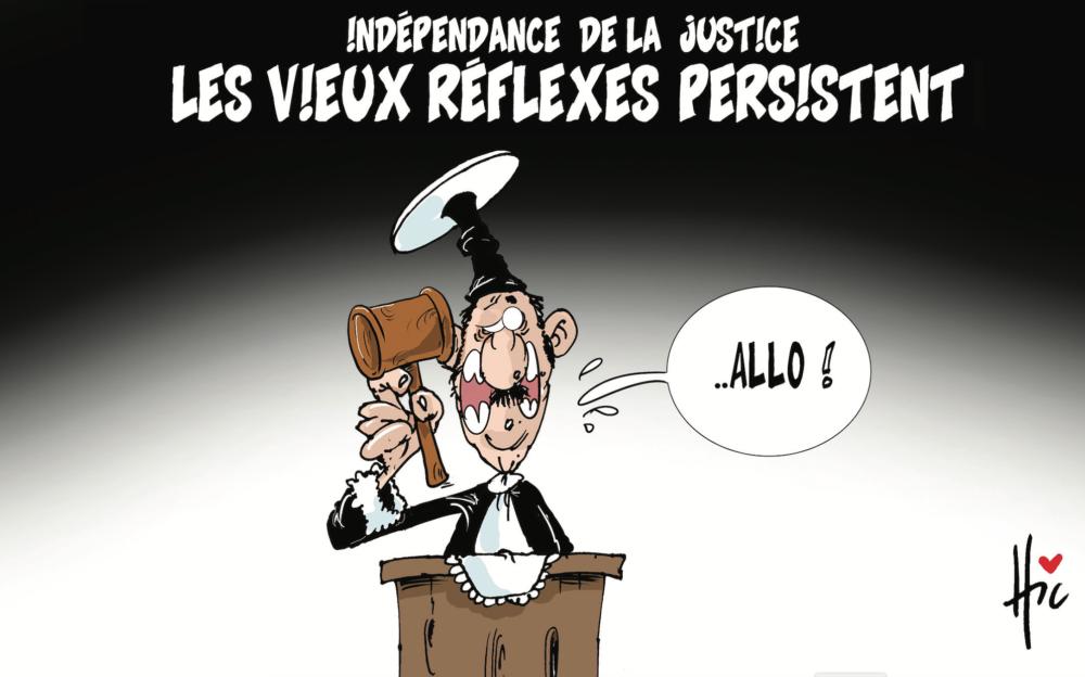 Indépendance de la justice : Les vieux réflexes persistent - Dessins et Caricatures, Le Hic - El Watan - Gagdz.com