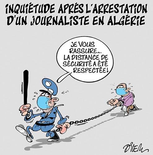 Inquiètude après l'arrestation d'un journaliste en Algérie - distanciation sociale - Gagdz.com