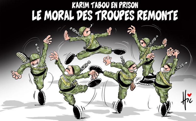 Karim Tabou en prison : Le moral des troupes remonte - Dessins et Caricatures, Le Hic - El Watan - Gagdz.com