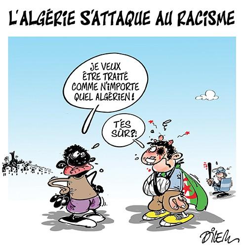 L'Algérie s'attaque au racisme - Dilem - Liberté - Gagdz.com