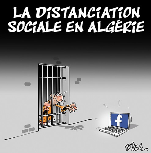 La distanciation sociale en Algérie - prison - Gagdz.com