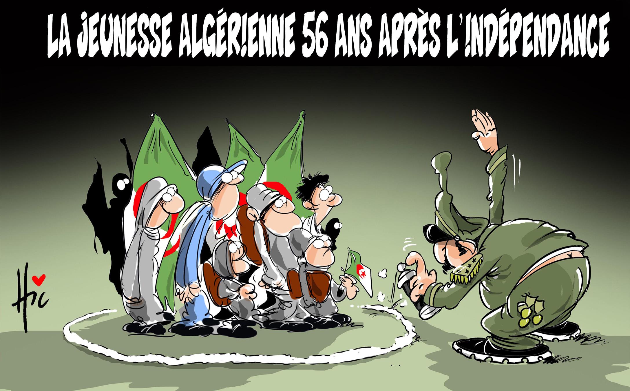 La jeunesse algérienne 56 ans après l'indépendance - Dessins et Caricatures, Le Hic - El Watan - Gagdz.com