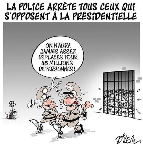 La police arrête tous ceux qui s'opposent à la présidentielle - Dilem - Liberté - Gagdz.com