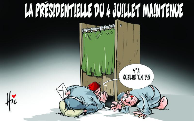 La présidentielle du 4 juillet maintenue - Dessins et Caricatures, Le Hic - El Watan - Gagdz.com