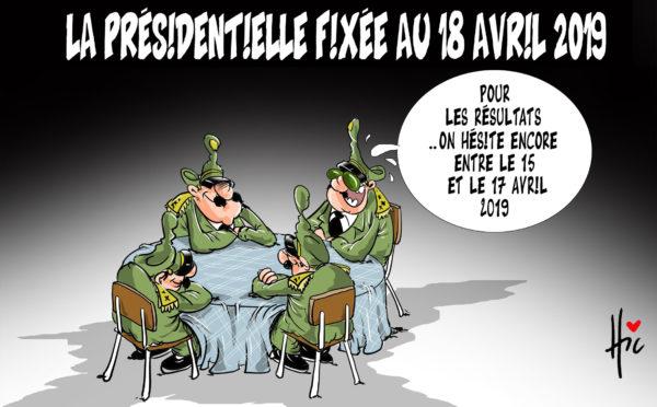 La présidentielle fixée au 18 avril 2019 en Algérie - Dessins et Caricatures, Le Hic - El Watan - Gagdz.com