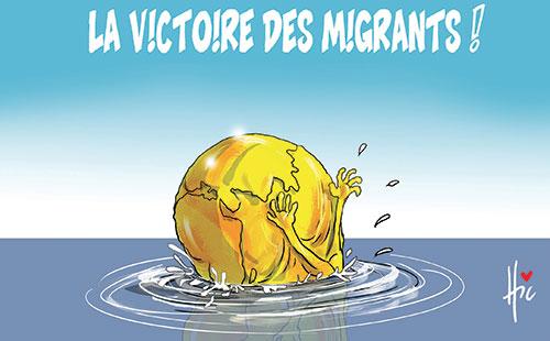 La victoire des migrants à la coupe du monde 2018 - Dessins et Caricatures, Le Hic - El Watan - Gagdz.com