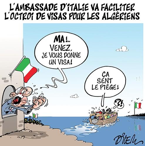 L'ambassade d'Italie va faciliter l'octroi de visas pour la algériens - italie - Gagdz.com