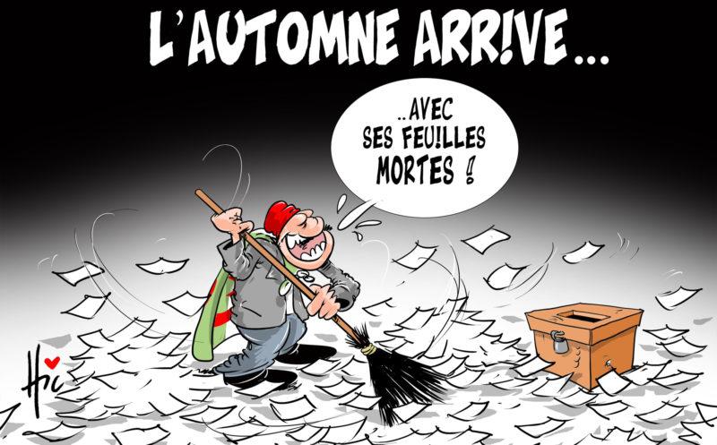 L'automne arrive avec ses feuilles mortes - Dessins et Caricatures, Le Hic - El Watan - Gagdz.com