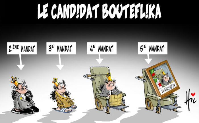 Le candidat Bouteflika du premier au cinquième mandat - 5e mandat de Bouteflika - Gagdz.com