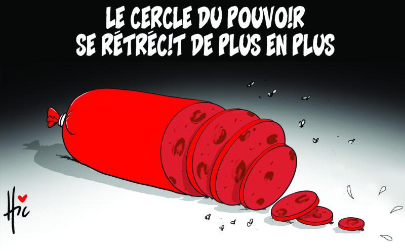 Le cercle du pouvoir se rétrécit de plus en plus - Dessins et Caricatures, Le Hic - El Watan - Gagdz.com