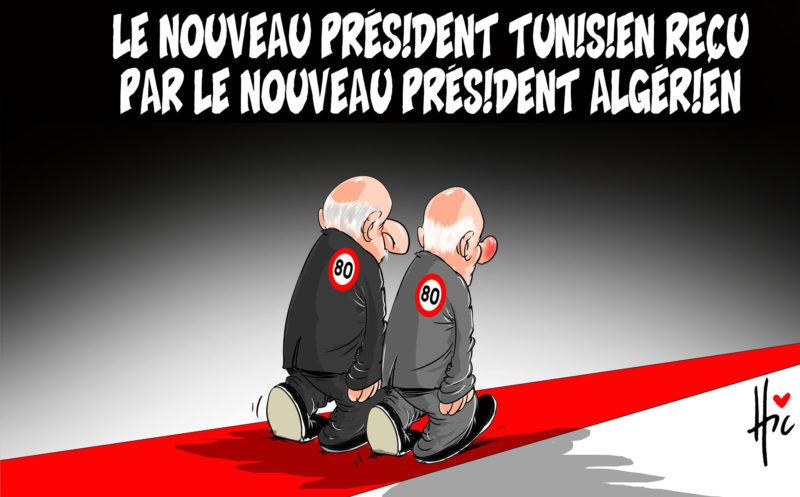 Le nouveau président tunisien reçu par le nouveau président algérien - Dessins et Caricatures, Le Hic - El Watan - Gagdz.com