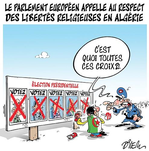 Le parlement européen appelle au respect des libertés religieuses en Algérie - Dilem - Liberté - Gagdz.com