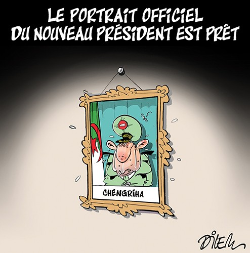 Le portrait officiel du nouveau président est prêt - Dilem - Liberté - Gagdz.com