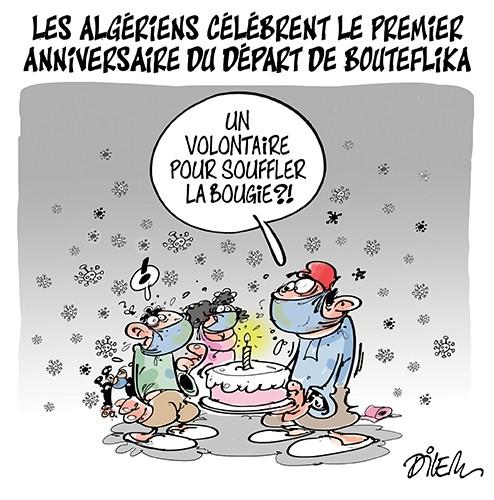 Les Algériens célébrent le premier anniversaire du départ de Bouteflika - Algériens - Gagdz.com