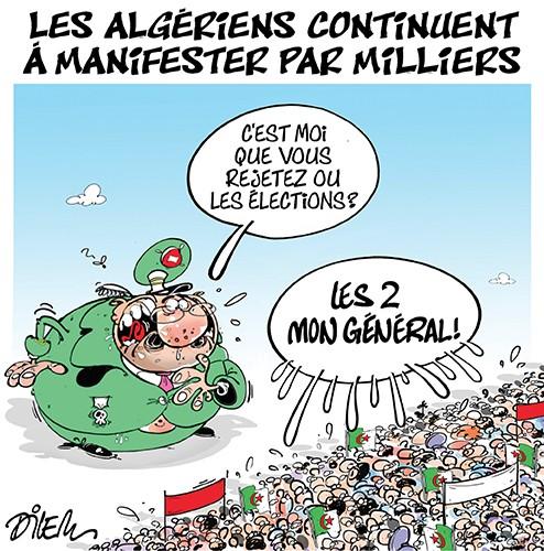 Les algériens continuent à manifester par milliers - Gaïd Salah - Gagdz.com