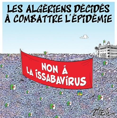 Les algériens décidés à combattre l'épidémie - Dilem - Liberté - Gagdz.com