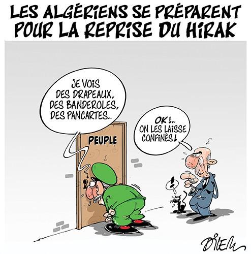 Les algériens se préparent pour la reprise du hirak - confinement - Gagdz.com