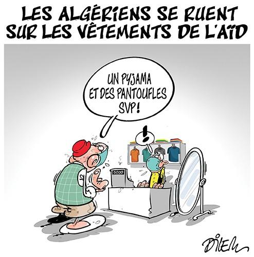 Les algériens se ruent sur les vêtement de l'aïd - Aïd - Gagdz.com
