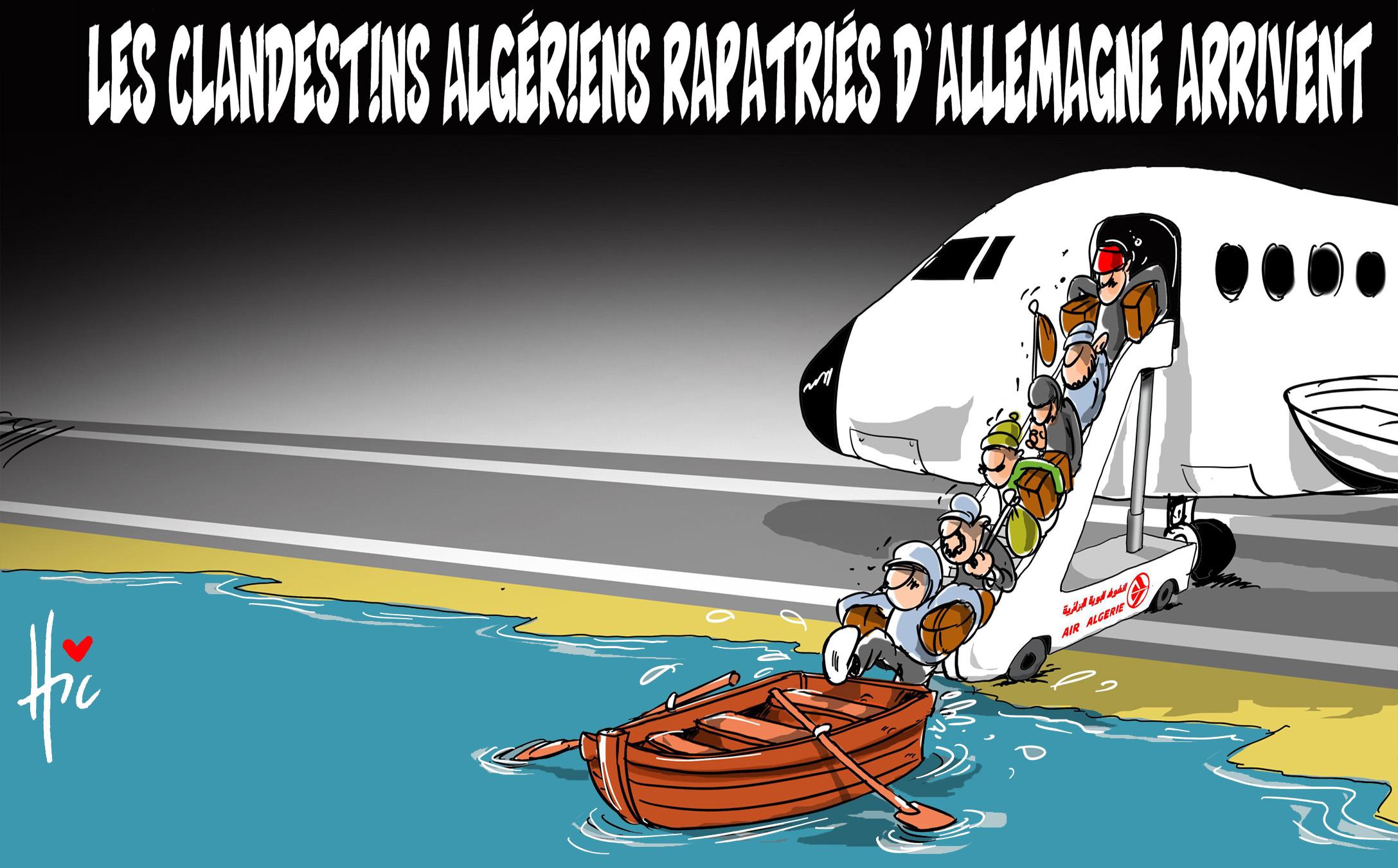 Les clandestins algériens rapatriés d'Allemagne arrivent - Dessins et Caricatures, Le Hic - El Watan - Gagdz.com