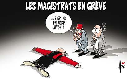 Les magistrats en grève : Mode avion - Dessins et Caricatures, Le Hic - El Watan - Gagdz.com