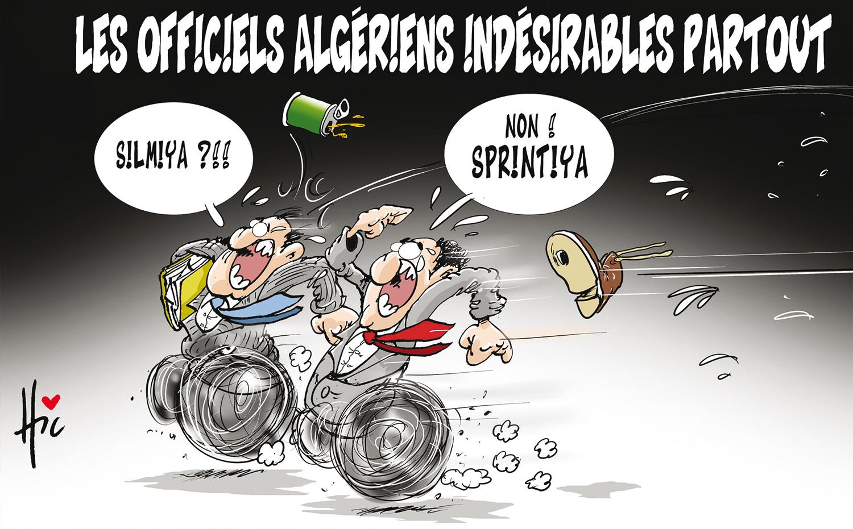 Les officiels algériens indésirables partout - Dessins et Caricatures, Le Hic - El Watan - Gagdz.com