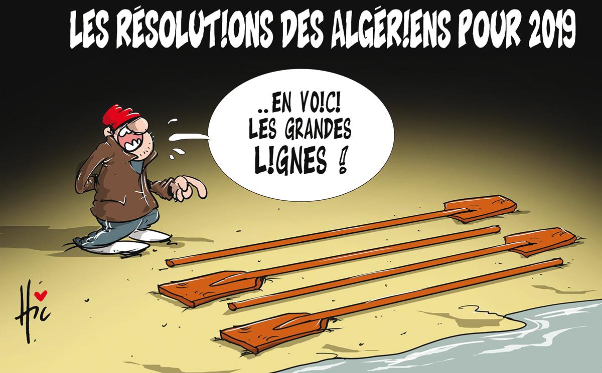 Les résolutions des algériens pour 2019 - harraga - Gagdz.com
