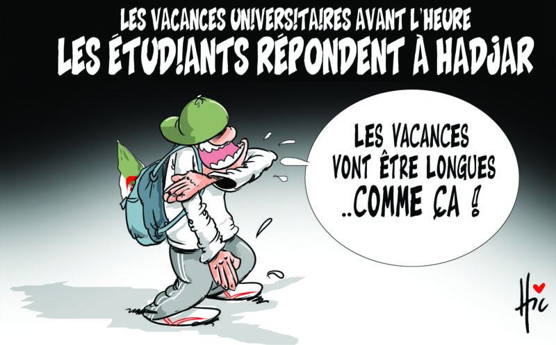 Les vacances universitaires avant l'heure. Les étudiants répondent à hadjar - étudiants - Gagdz.com