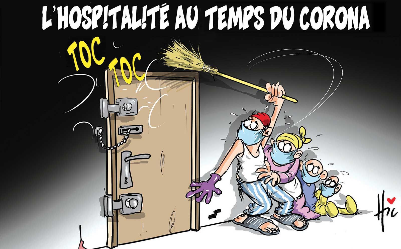 L'hospitalité au temps du corona - Dessins et Caricatures, Le Hic - El Watan - Gagdz.com