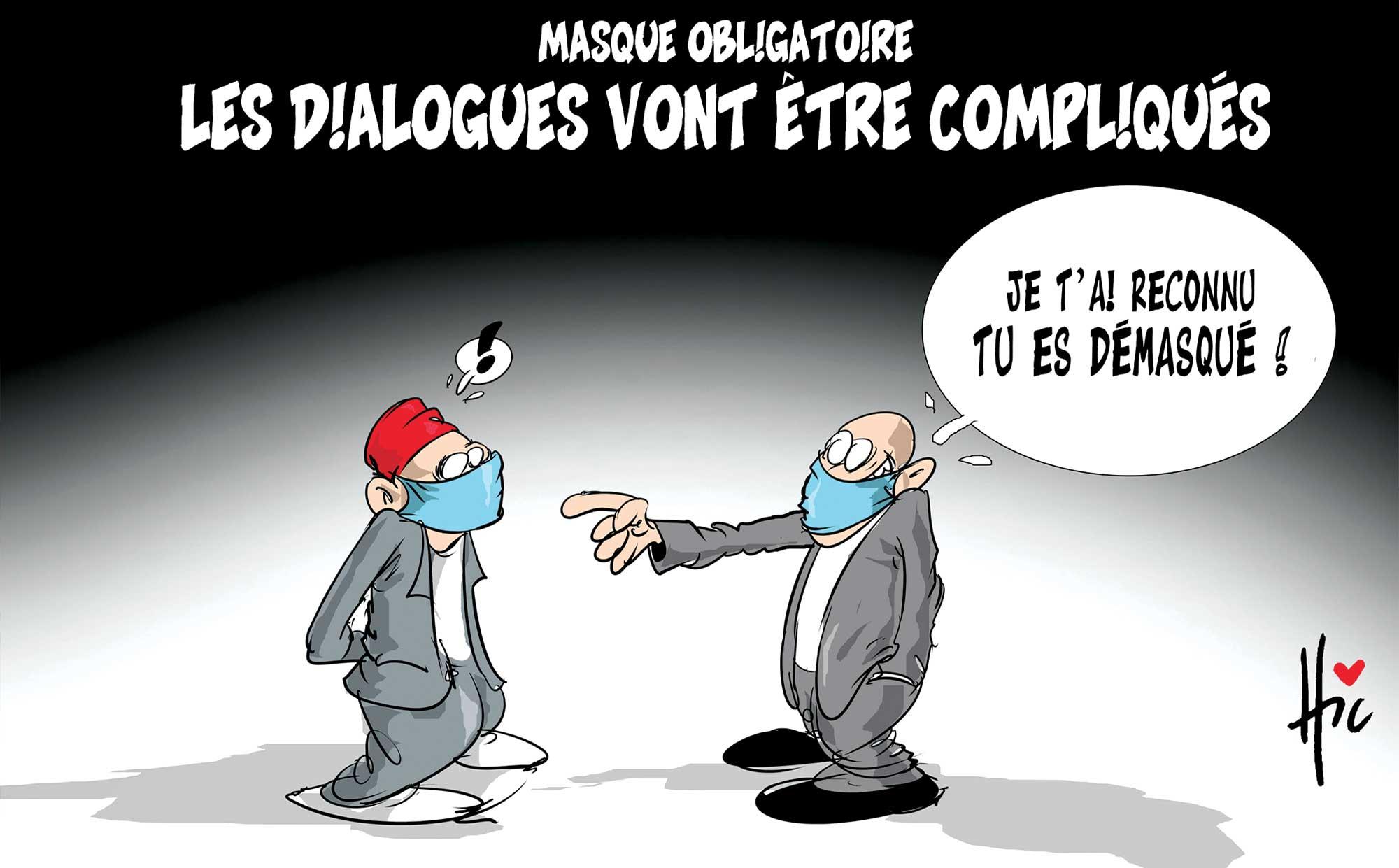 Masque obligatoire : Les dialogues vont être compliquées - Le Hic - El Watan - Gagdz.com