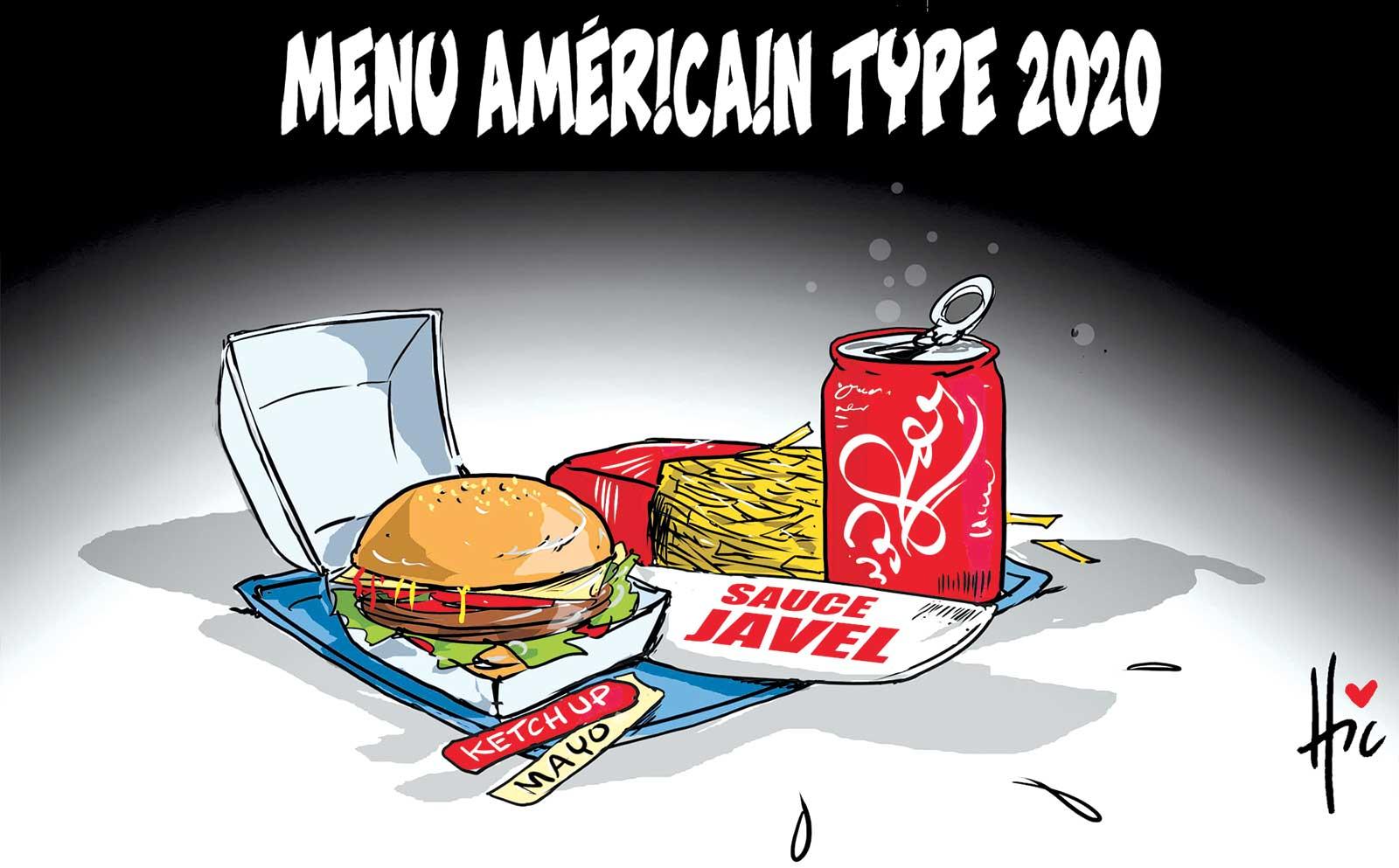 Menu américain type 2020 - Dessins et Caricatures, Le Hic - El Watan - Gagdz.com