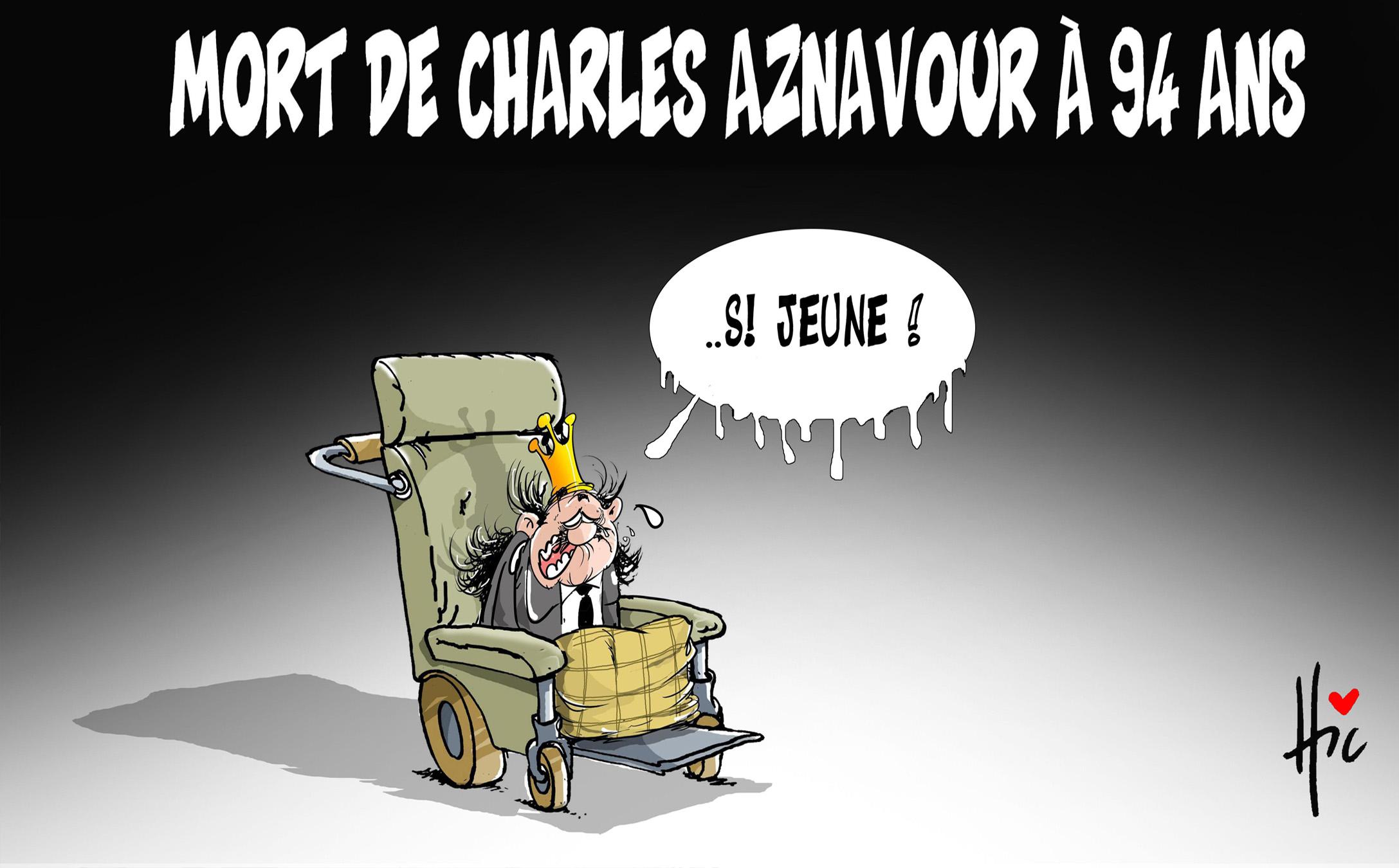 Mort de Charles Aznavour à 94 ans - Dessins et Caricatures, Le Hic - El Watan - Gagdz.com