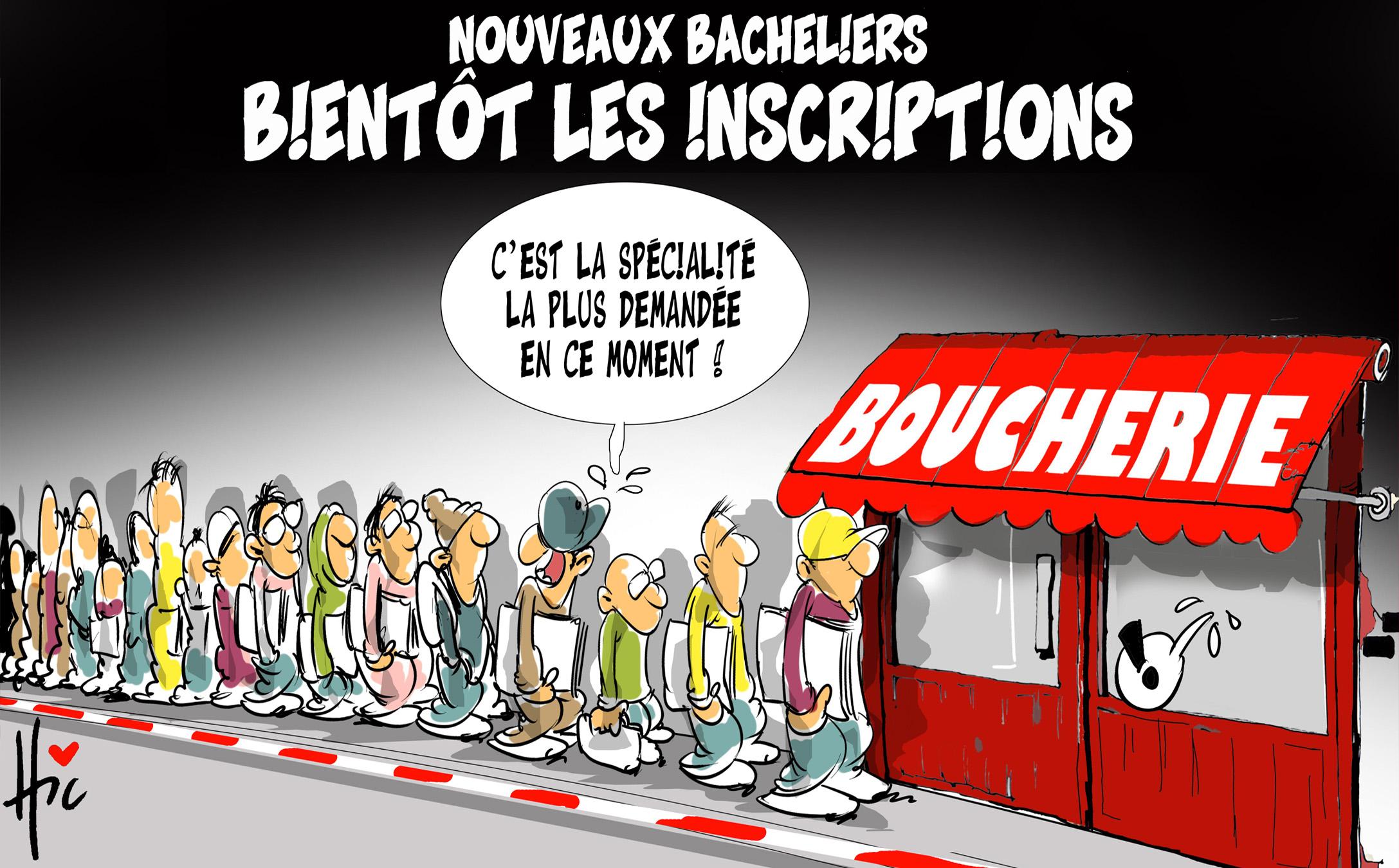 Nouveaux bacheliers, bientôt les inscriptions - Dessins et Caricatures, Le Hic - El Watan - Gagdz.com