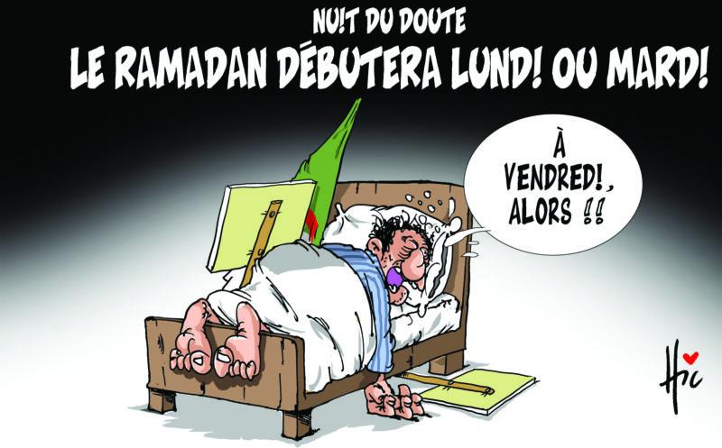 Nuit du doute : Le ramadan débutera lundi ou mardi - Dessins et Caricatures, Le Hic - El Watan - Gagdz.com