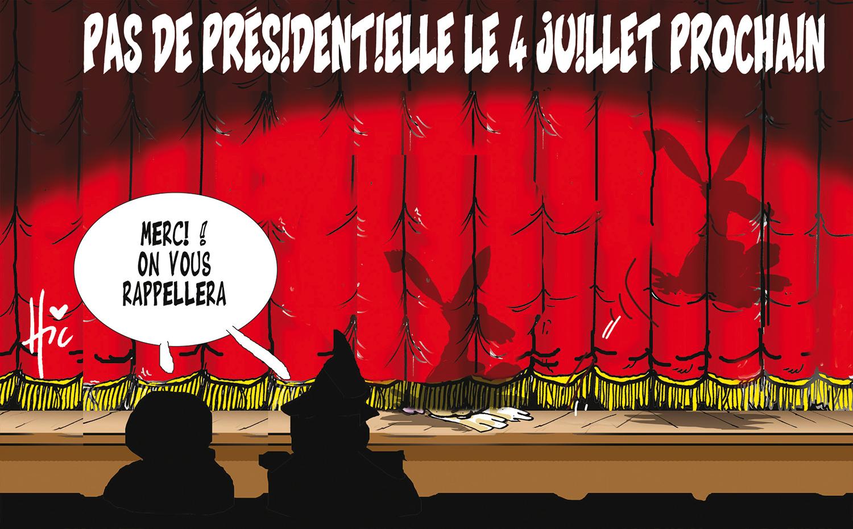 Pas de présidentielle le 4 juillet prochain - Dessins et Caricatures, Le Hic - El Watan - Gagdz.com