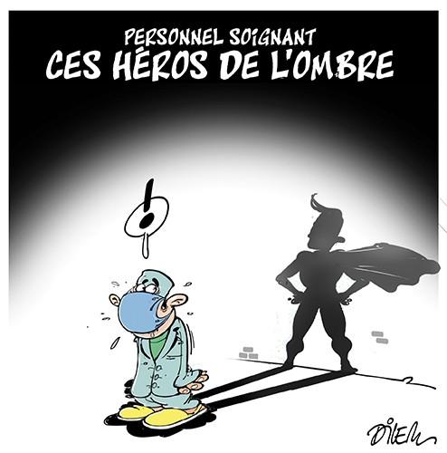 Personnel soignant : Ces héros dans l'ombre - Dilem - Liberté - Gagdz.com