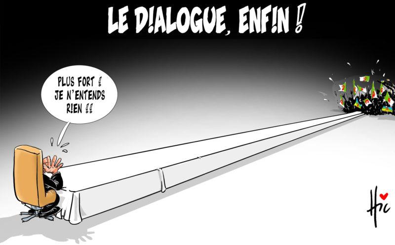 Pouvoir : Enfin le dialogue avec le peuple - Dessins et Caricatures, Le Hic - El Watan - Gagdz.com