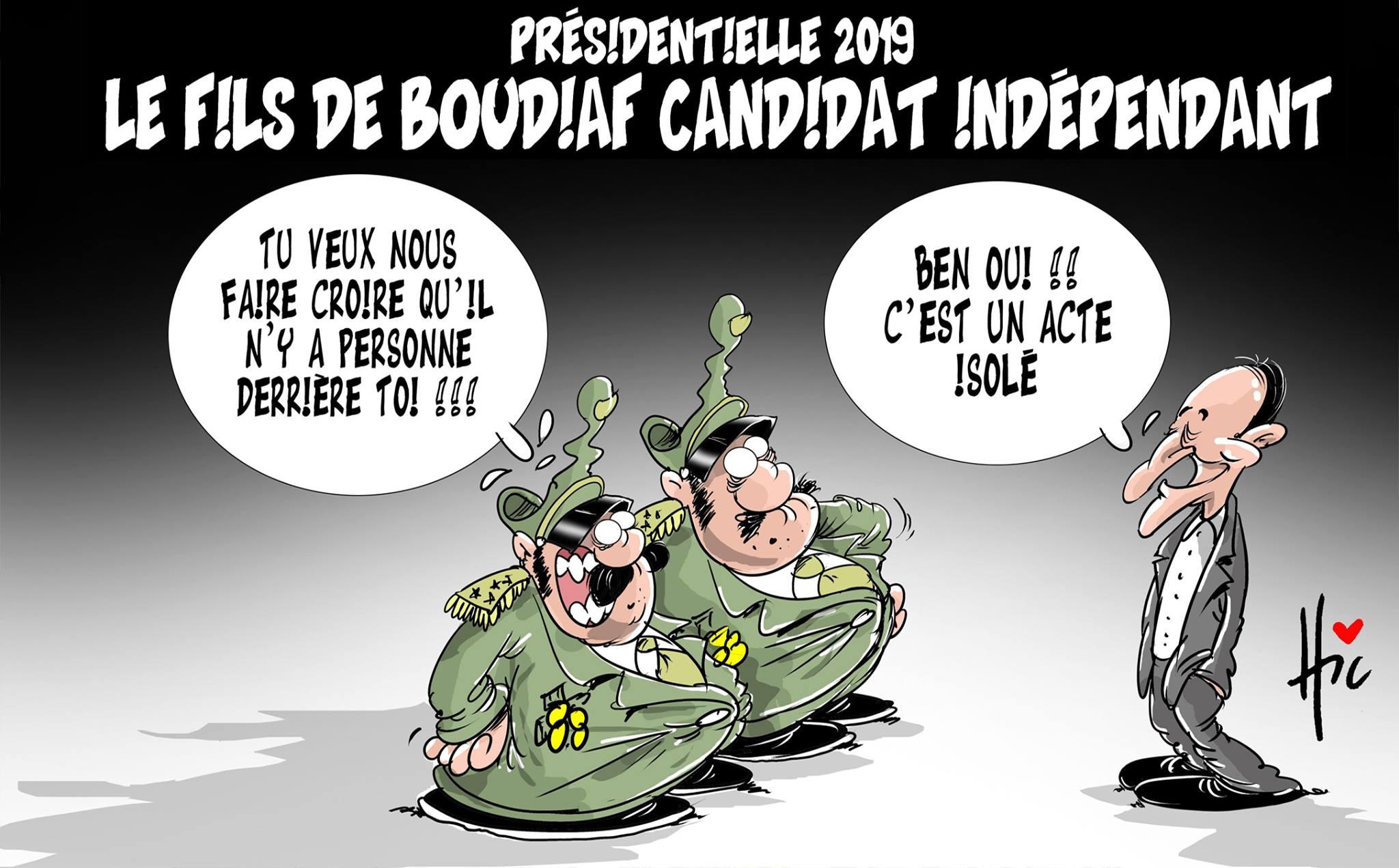 Présidentielle 2019 : Le fils de Boudiaf candidat indépendant - Dessins et Caricatures, Le Hic - El Watan - Gagdz.com