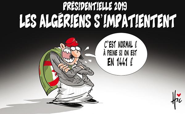 Présidentielle 2019 : Les algériens s'impatientent - Dessins et Caricatures, Le Hic - El Watan - Gagdz.com