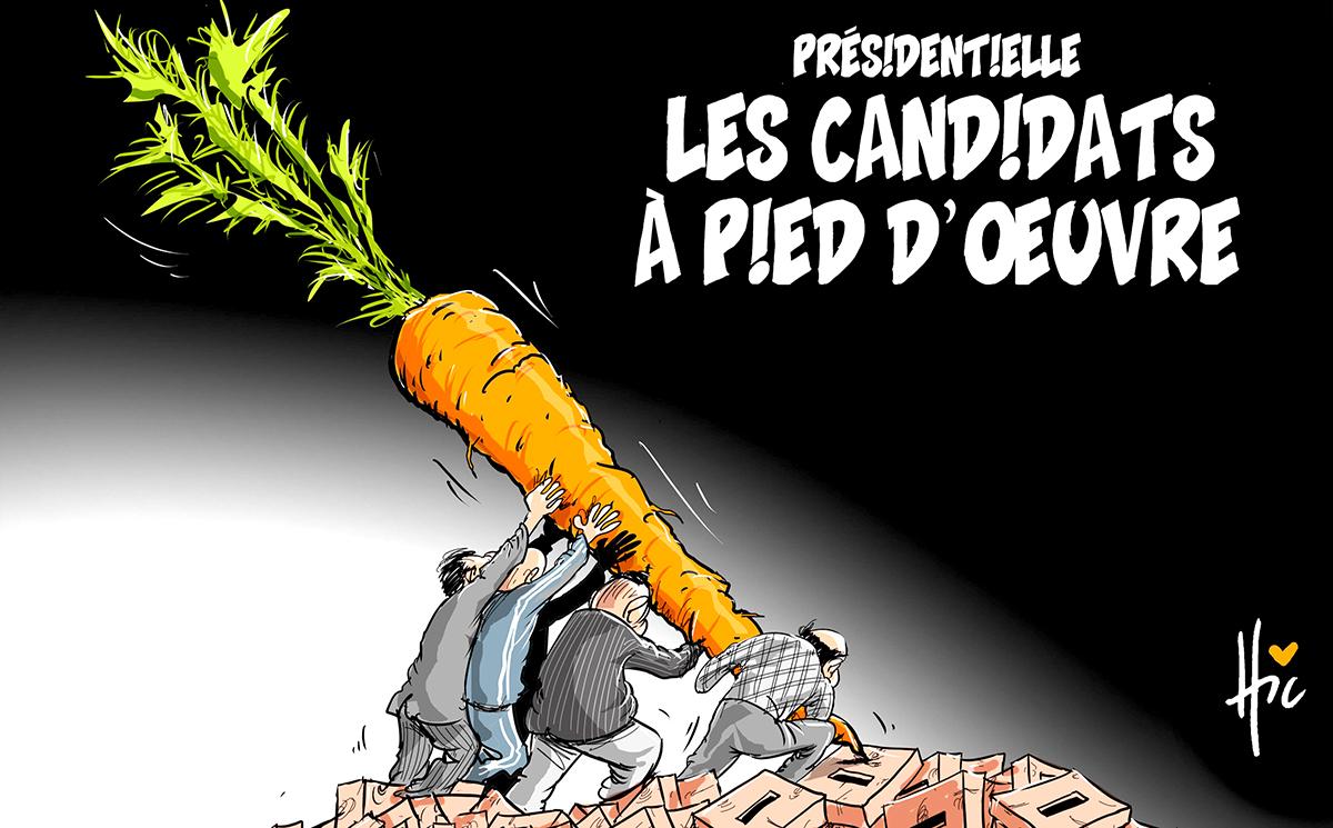 Présidentielle : Les candidats à pied d'oeuvre - Dessins et Caricatures, Le Hic - El Watan - Gagdz.com