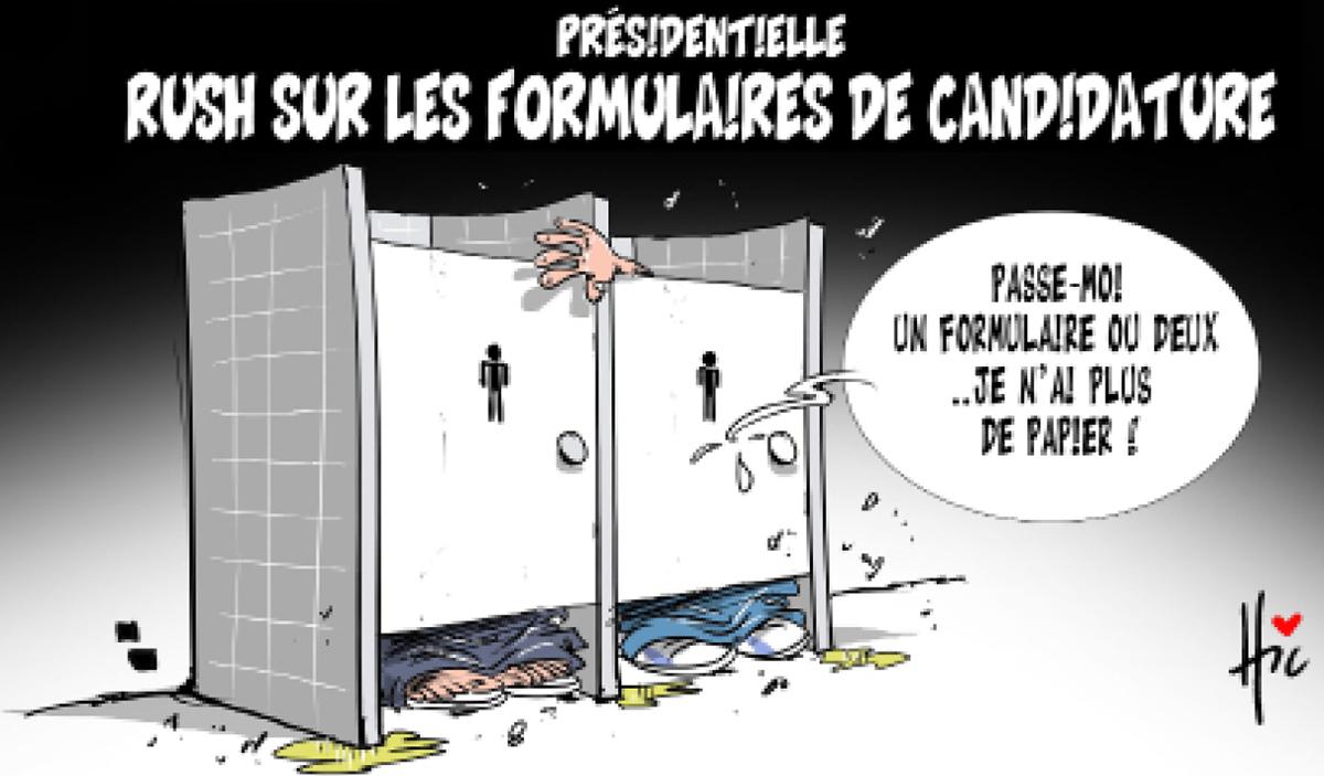 Présidentielle : Rush sur les formulaires de candidatures - Dessins et Caricatures, Le Hic - El Watan - Gagdz.com