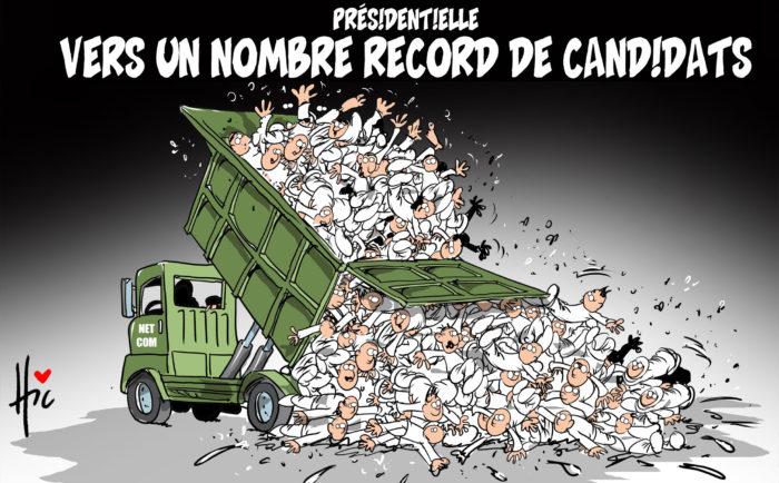Présidentielle : Vers un nombre record de candidats - Dessins et Caricatures, Le Hic - El Watan - Gagdz.com