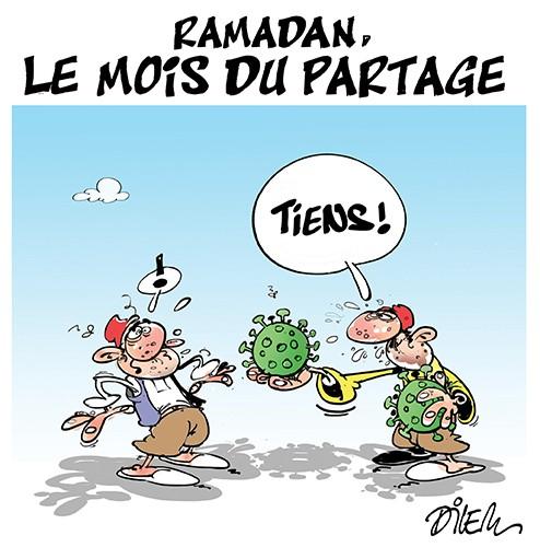 Ramadan, le mois du partage - Dessins et Caricatures, Dilem - Liberté - Gagdz.com