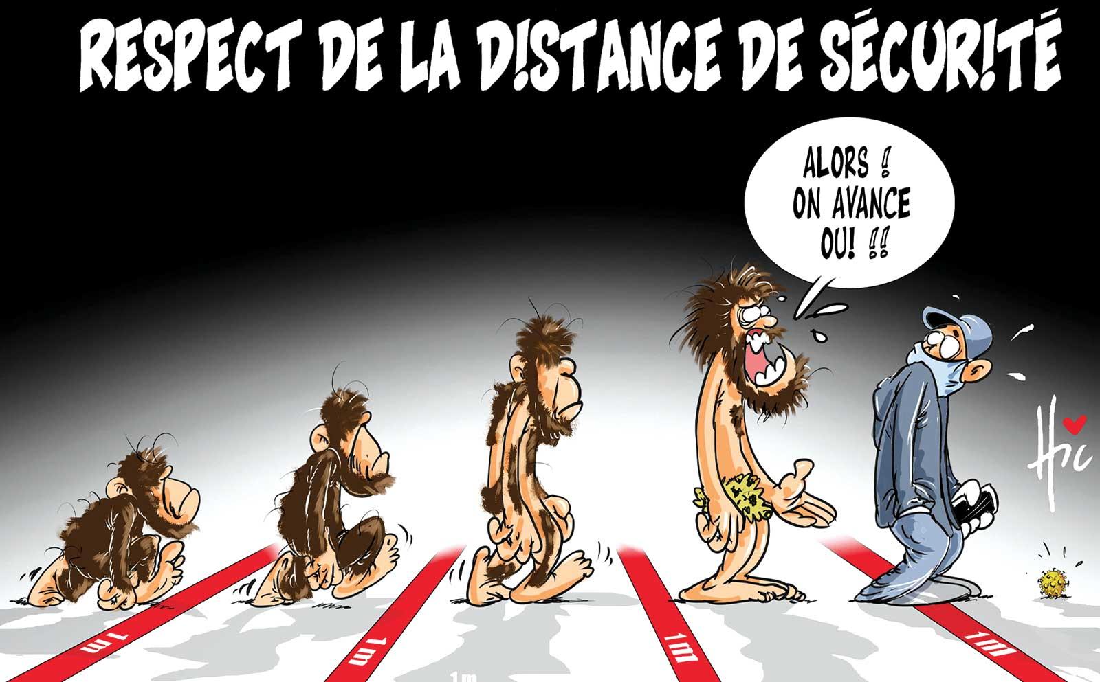 Respect de la distance de sécurité - distanciation sociale - Gagdz.com