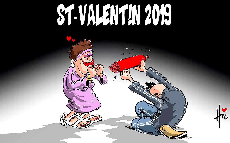 Saint Valentin 2019 - Dessins et Caricatures, Le Hic - El Watan - Gagdz.com