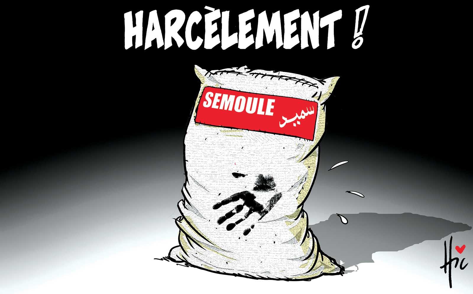 Semoule et Harcèlement ! - Dessins et Caricatures, Le Hic - El Watan - Gagdz.com
