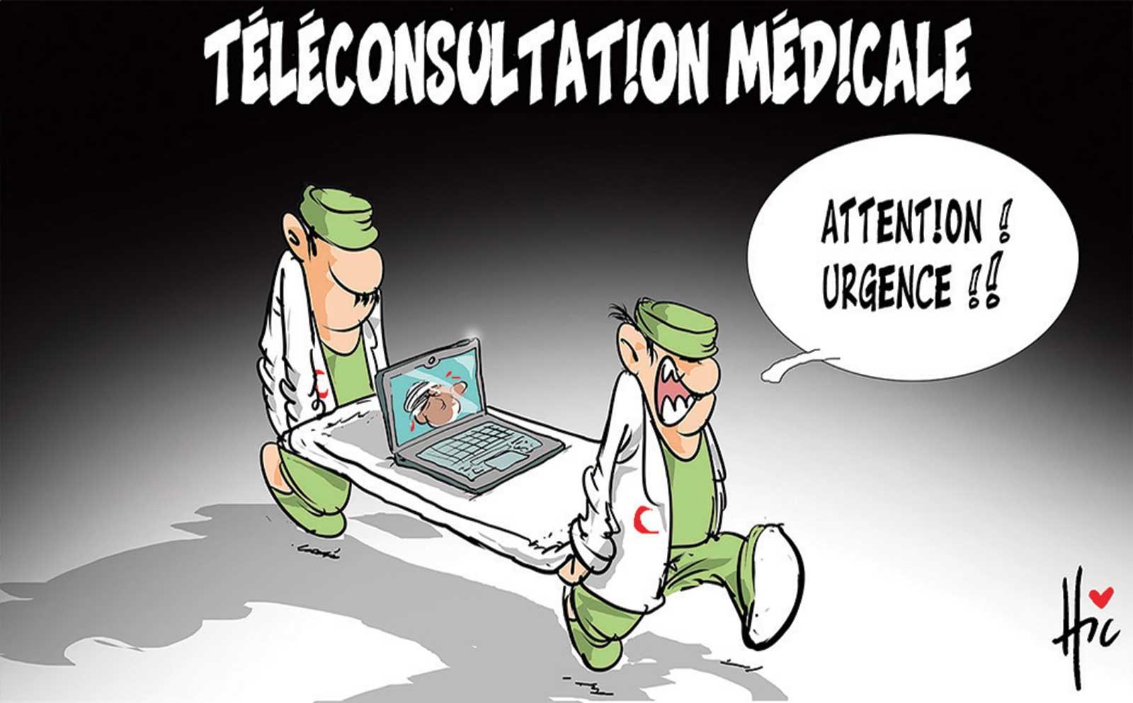 Téléconsultation médicale - Dessins et Caricatures, Le Hic - El Watan - Gagdz.com