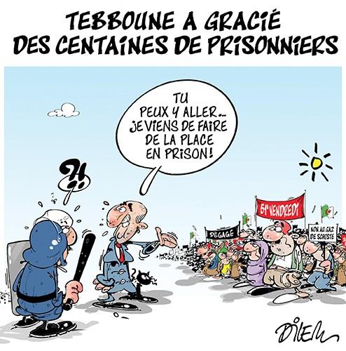 Tebboune a gracié des centaines de prisonniers - police - Gagdz.com