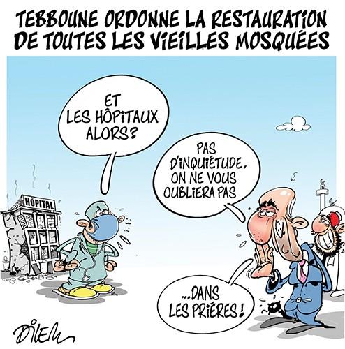 Tebboune ordonne la restauration de toutes les vieilles mosquées - Dilem - Liberté - Gagdz.com
